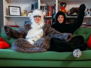 Ramona og Siggen får boltre seg i sin nye nettserie. (Foto: Karl Arthur Honerud Pedersen, NRK)