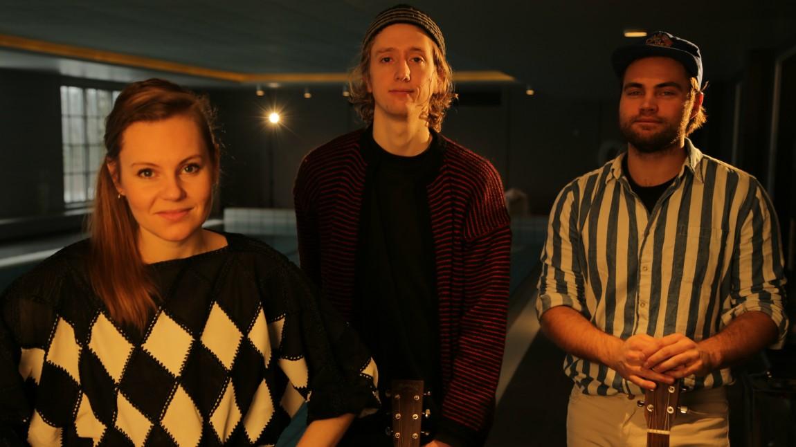 Billie Van, Jonas Alaska og Mikhael Paskalev (Foto: Gard Brox Jensen, NRK P3)
