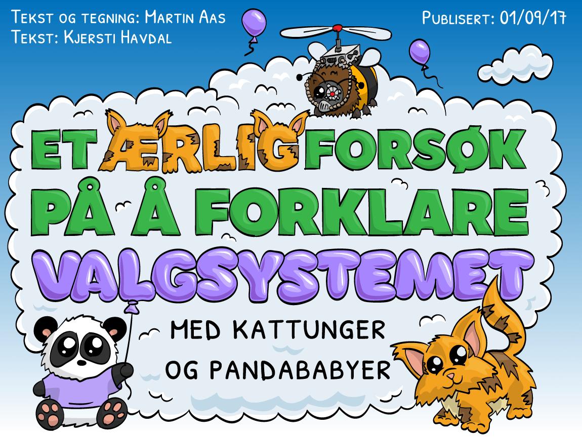 Et ærlig forsøk på å forklare valgsystemet - med kattunger og pandababyer