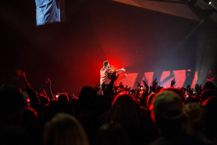 The Weeknd på konsert i Oslo. Foto: Rainer Nokken Kleive