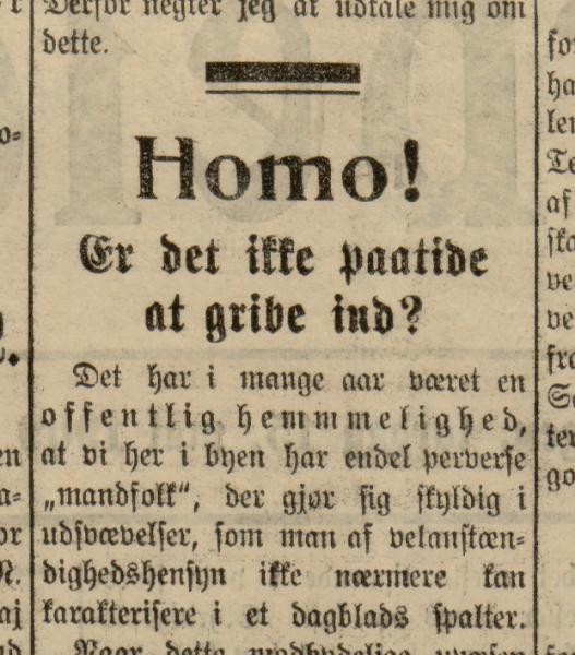 Et gammelt avisutskrift, med brunt papir.