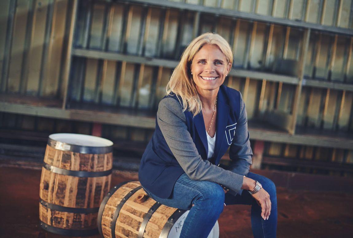 Camilla Andersson med et stort smil.
