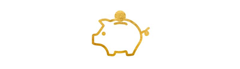 Illustrasjon av en pengegris med en mynt