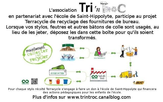 Un Nouveau Projet Le Recyclage De Fournitures Scolaires