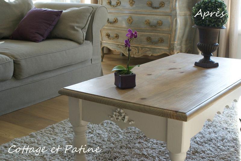 Table De Salon Revisite Cottage Et Patine Le Blog