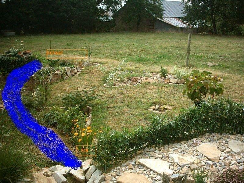 creation du ruisseau le jardin du