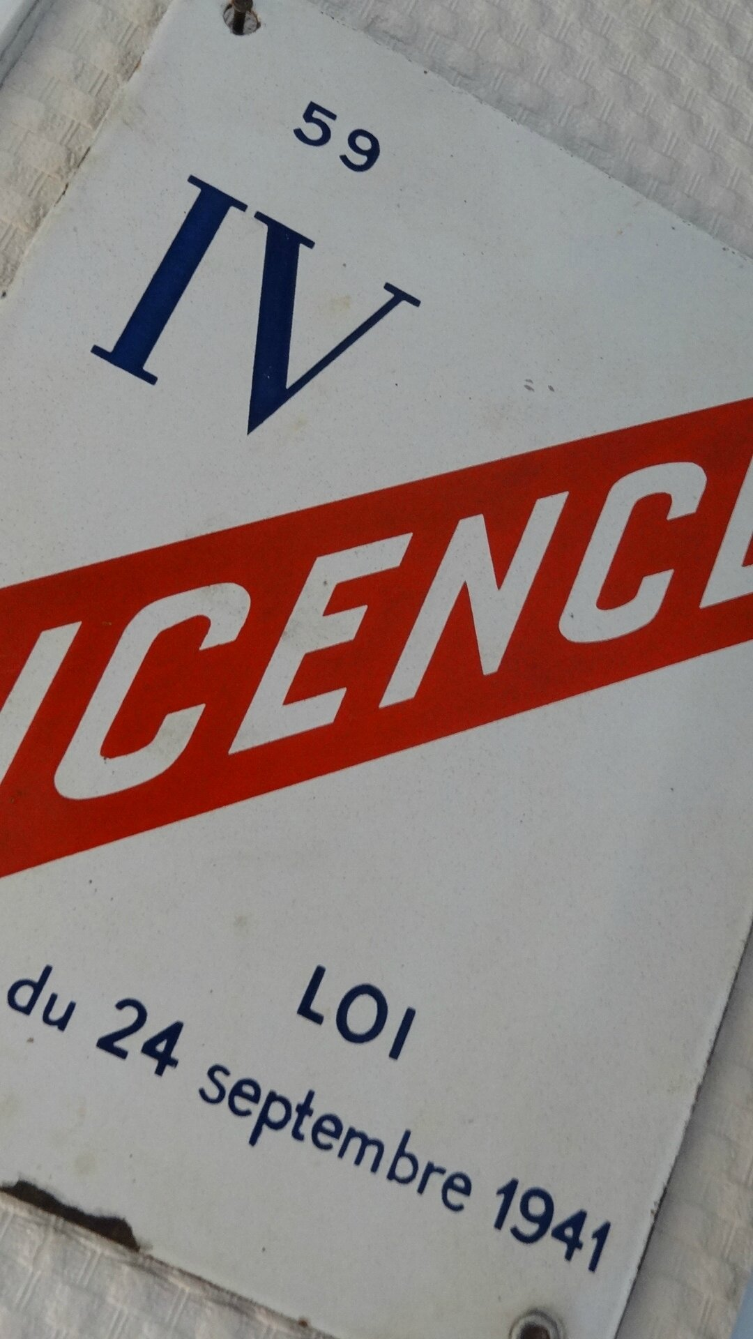 Objet Pub Plaque Maille LICENCE IV MuluBrok
