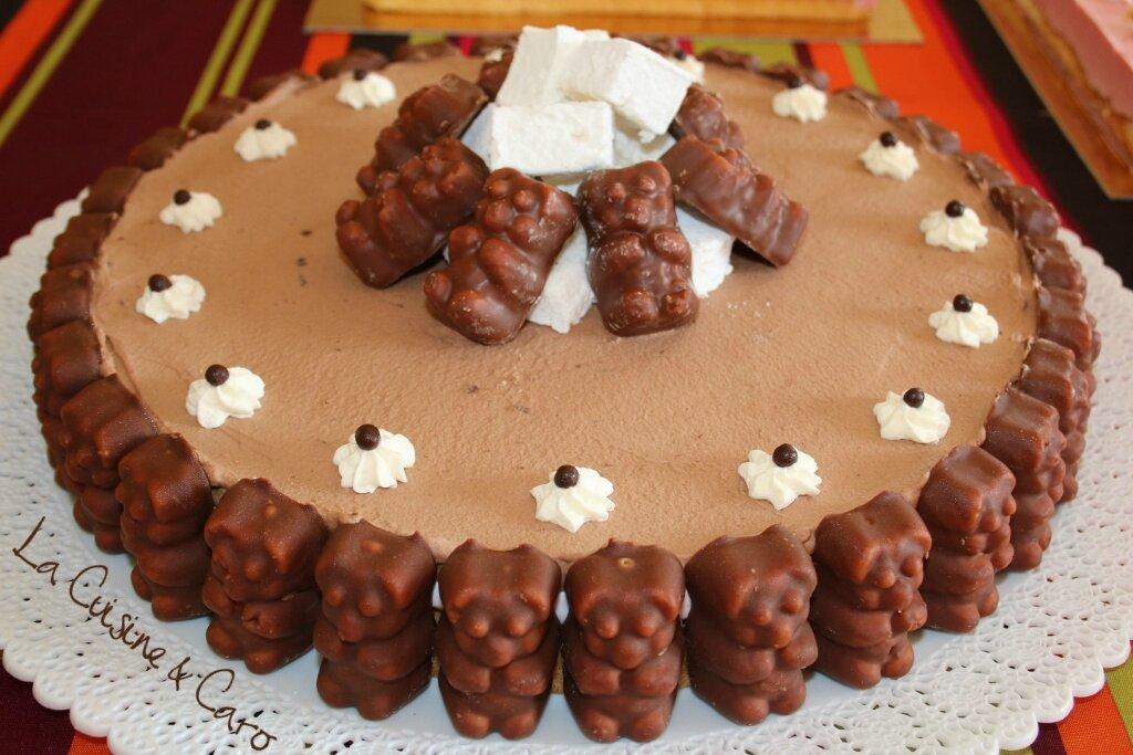 gateau nounours chocolat guimauve