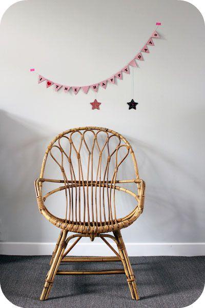 fauteuil osier vintage