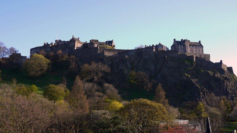Vue sur le château d'Edimbourg