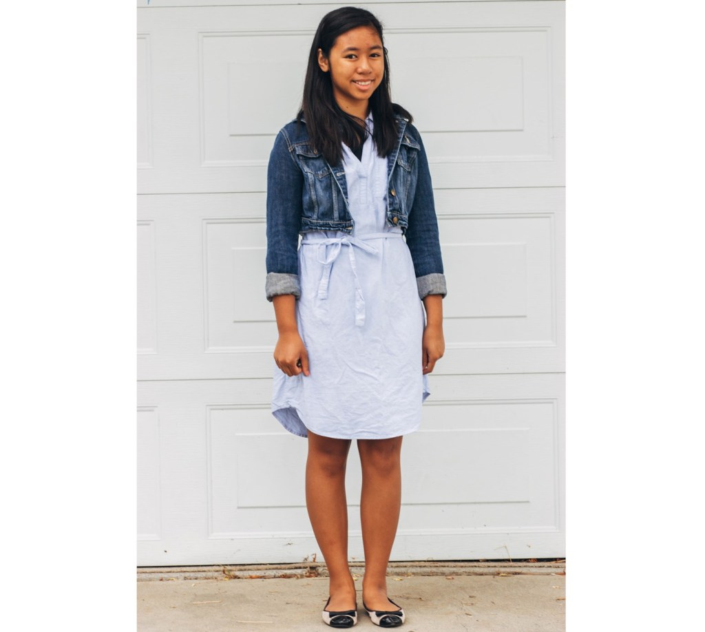 outfit7 1024x918 - Chambray for School- 7 Outfits