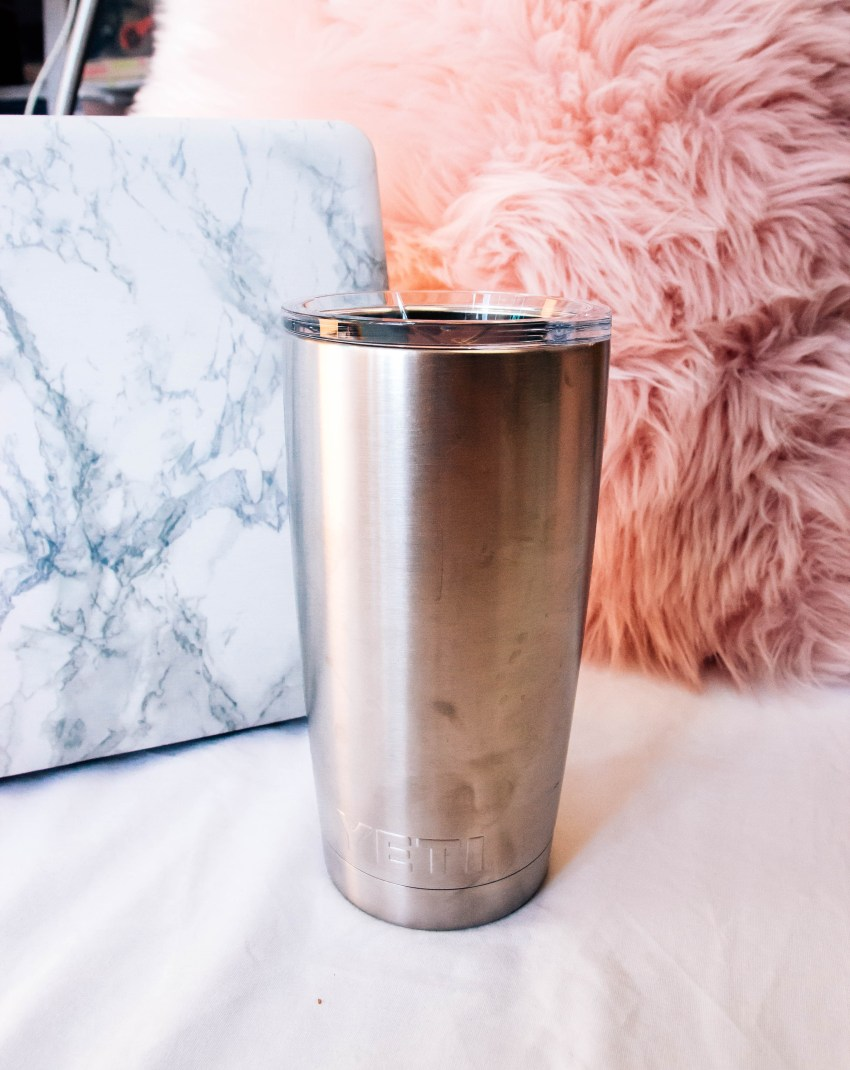Yeti Rambler 20 oz Tumbler | What's in My Pink Bag | What I Can't Leave Without