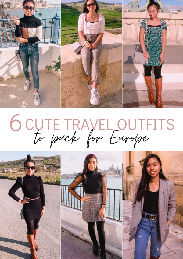 Europe Travel Outfits: 6 Cute Outfits for Traveling to Europe
