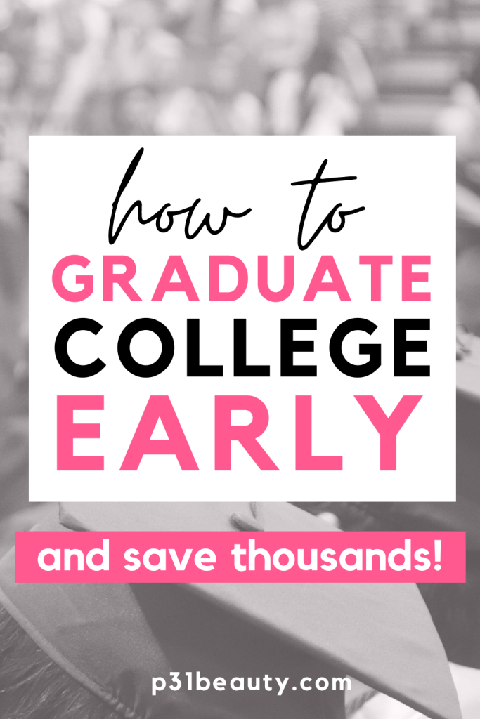 In this post, I explain how I graduated college early and why I decided to do it. This post is super informative if you want to to graduate college early and save thousands on tuition. I'm also giving you a FREE downloadable 4 year plan template to help you determine if you can graduate college early!