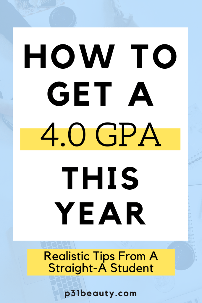 Are you looking to improve your grades this school year? Read this post for 12 realistic tips on how to get a 4.0 GPA this year! I am giving you ALL my secrets on how I graduated from UC San Diego with a 3.96 overall GPA and summa cum laude honors. A FREE calendar for the quarter/semester is also included in this post!