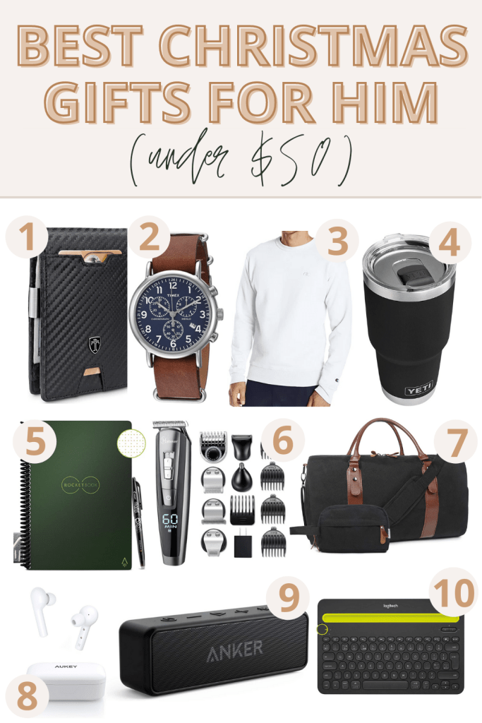 10 Best Christmas Gift Ideas For Him Under 50