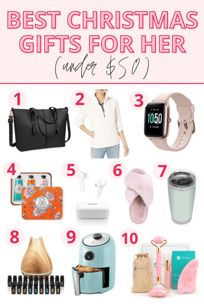 10 Best Christmas Gift Ideas For Her Under 50
