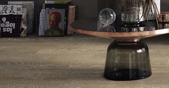 Schöner Wohnen Kollektion Style Parkett hochwertig, mit 4-V-Fuge Eiche gekälkt matt weiß