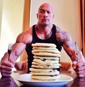 Wait, The Rock eats pancakes? Whoa, count me in!