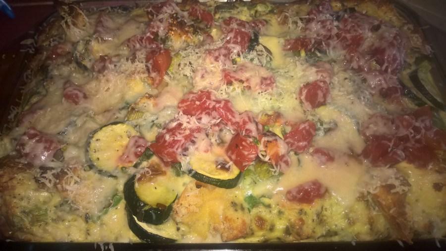 Zucchini Parmesan strata