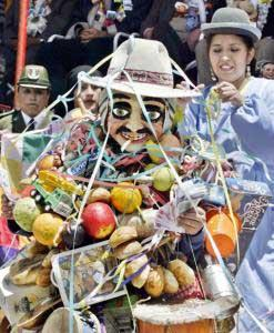 Bolivians celebrated the traditional Aymara Festival of Abundance on Sunday, buying miniature money, houses, and professional titles -- all as an expression of their dreams and aspirations.