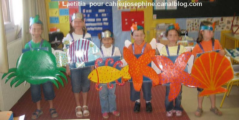 Poissons Crabes Et Coquillages Les Cahiers De Josphine