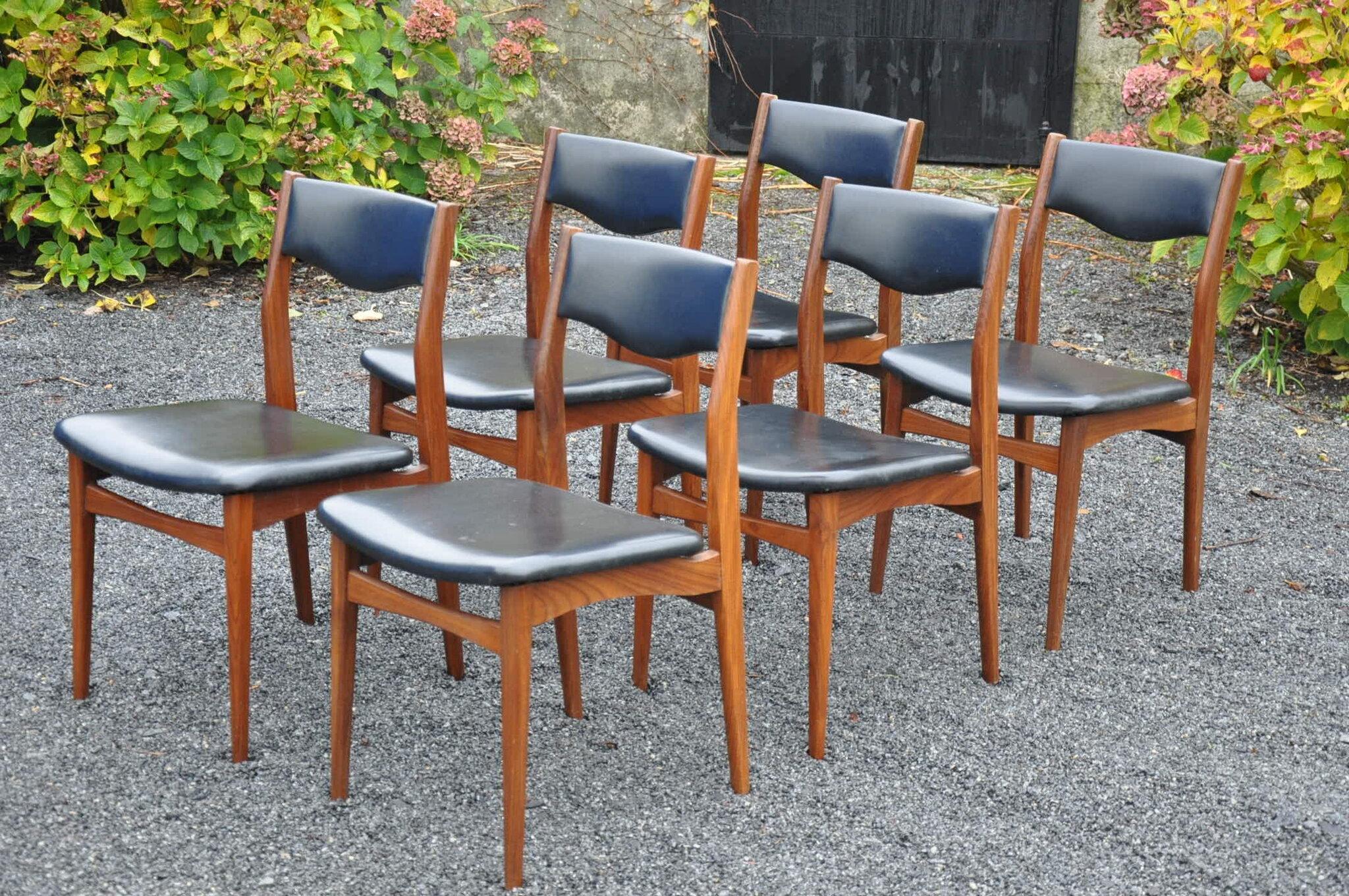 6 chaises de type scandinave articles
