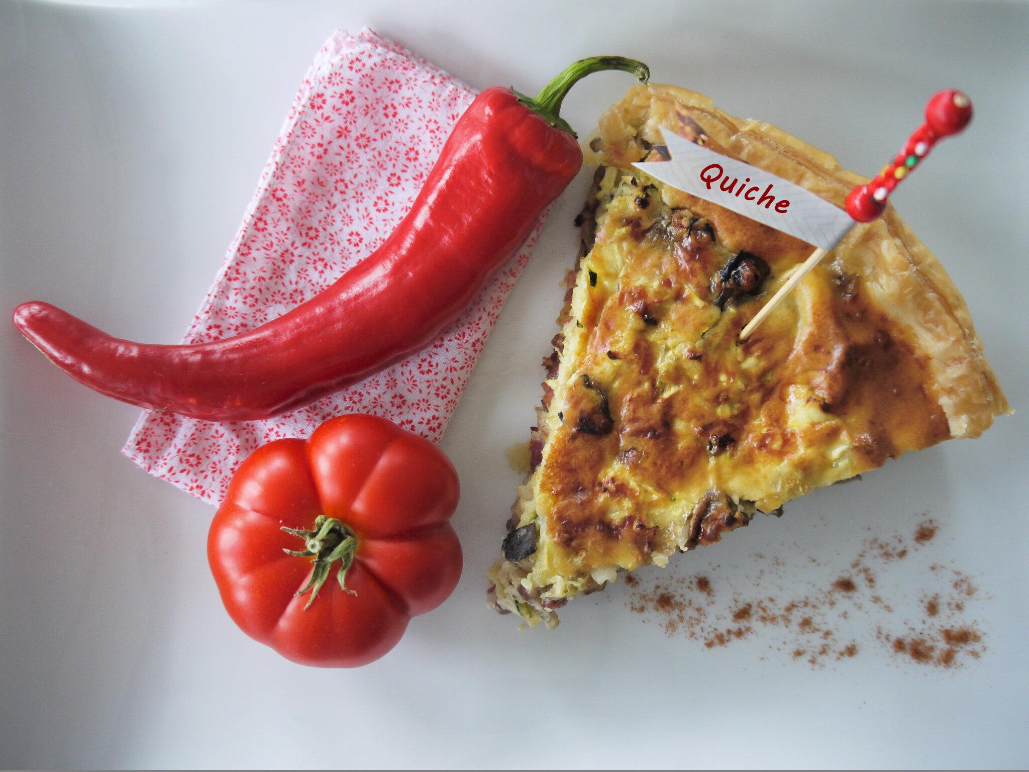 champignons tomates courgette