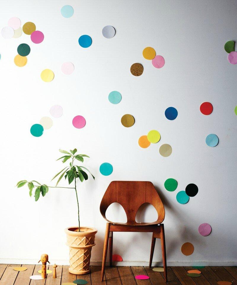 comment faire des confettis geants sur vos murs