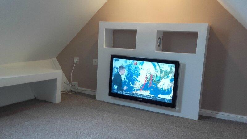 meuble tv placo bricolage les idees
