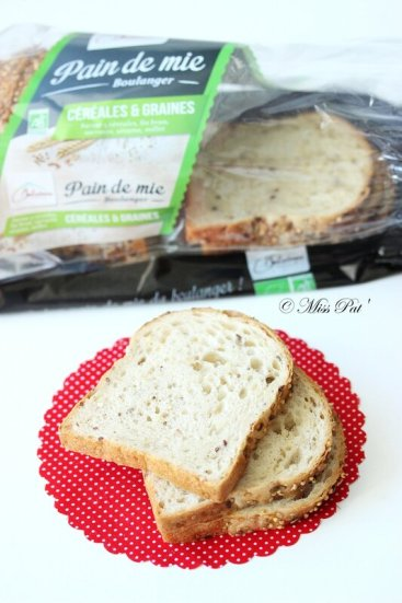 Tranches pain mie MISSPAT