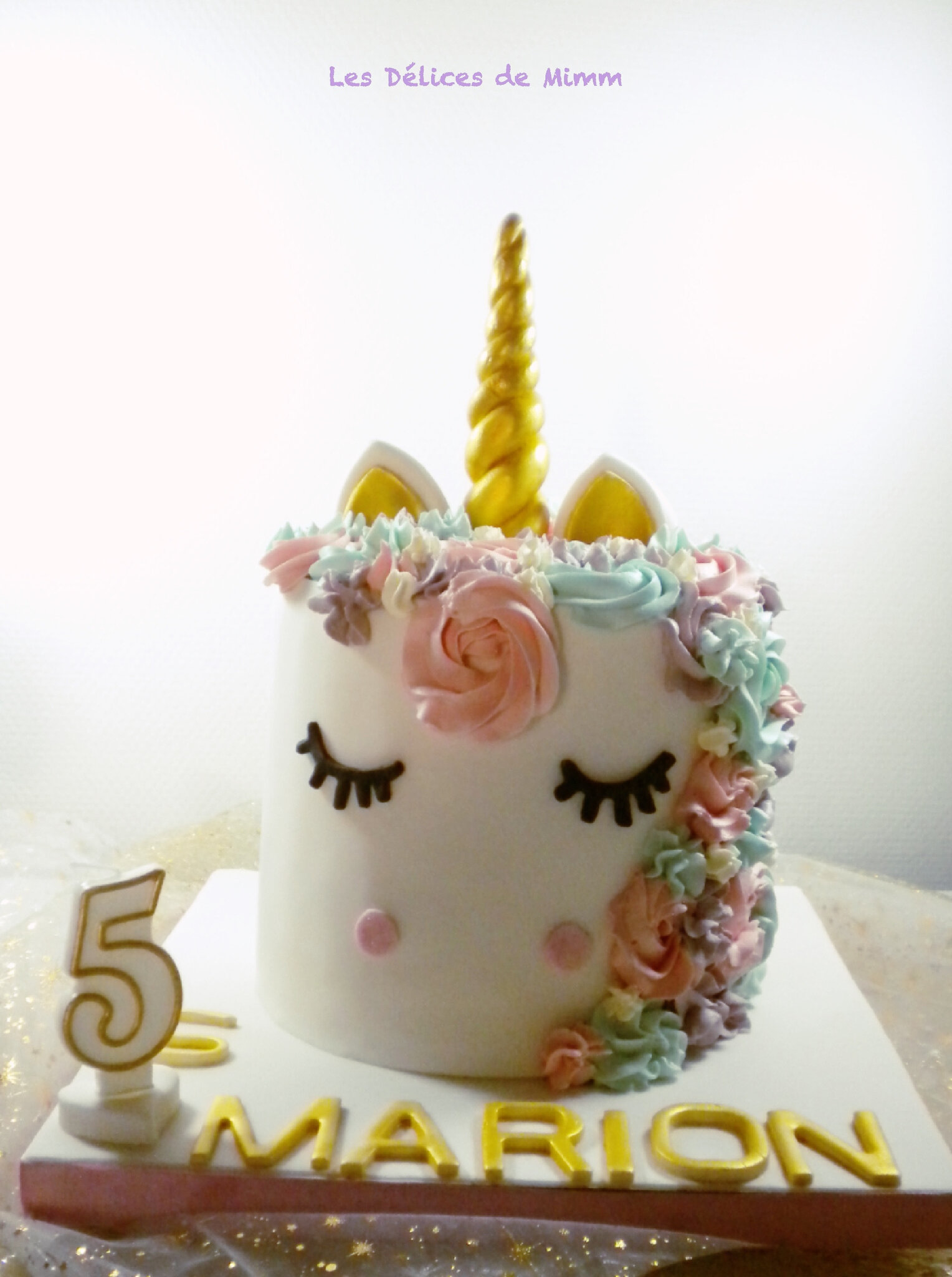 licorne de marion unicorn cake