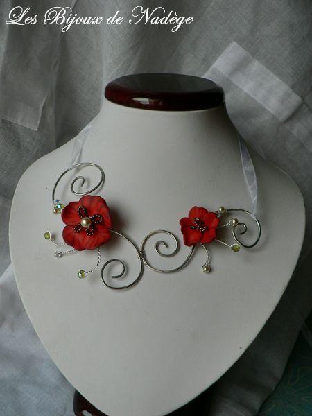 Collier De Mariage Joli Coquelicot Les Bijoux De Nadge