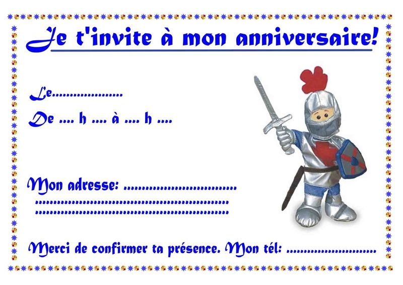 invitation chevalier photo de