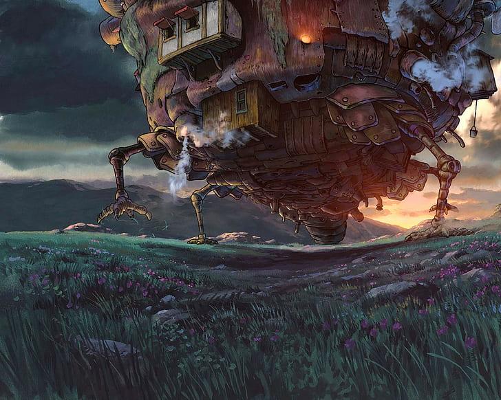 Lolongan Bergerak Kastil Anime Studio Ghibli Wallpaper Hd Wallpaperbetter