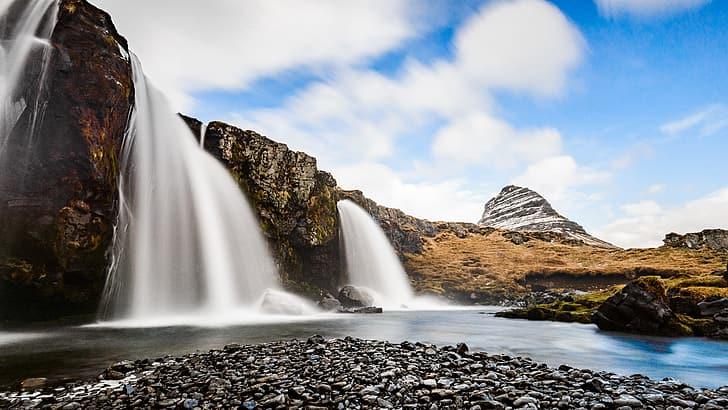 kirkjufell islande paysage sommet de