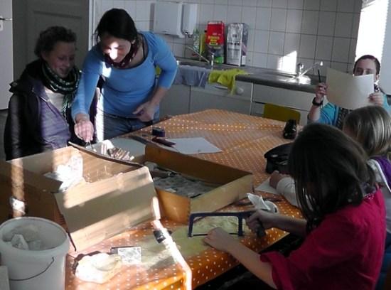 Neigungskurs Kunst in der Druckwerkstatt Jeetzeschule
