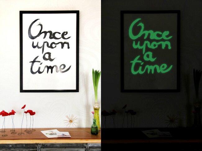 DIY Une Affiche Phosphorescente Tte Dange
