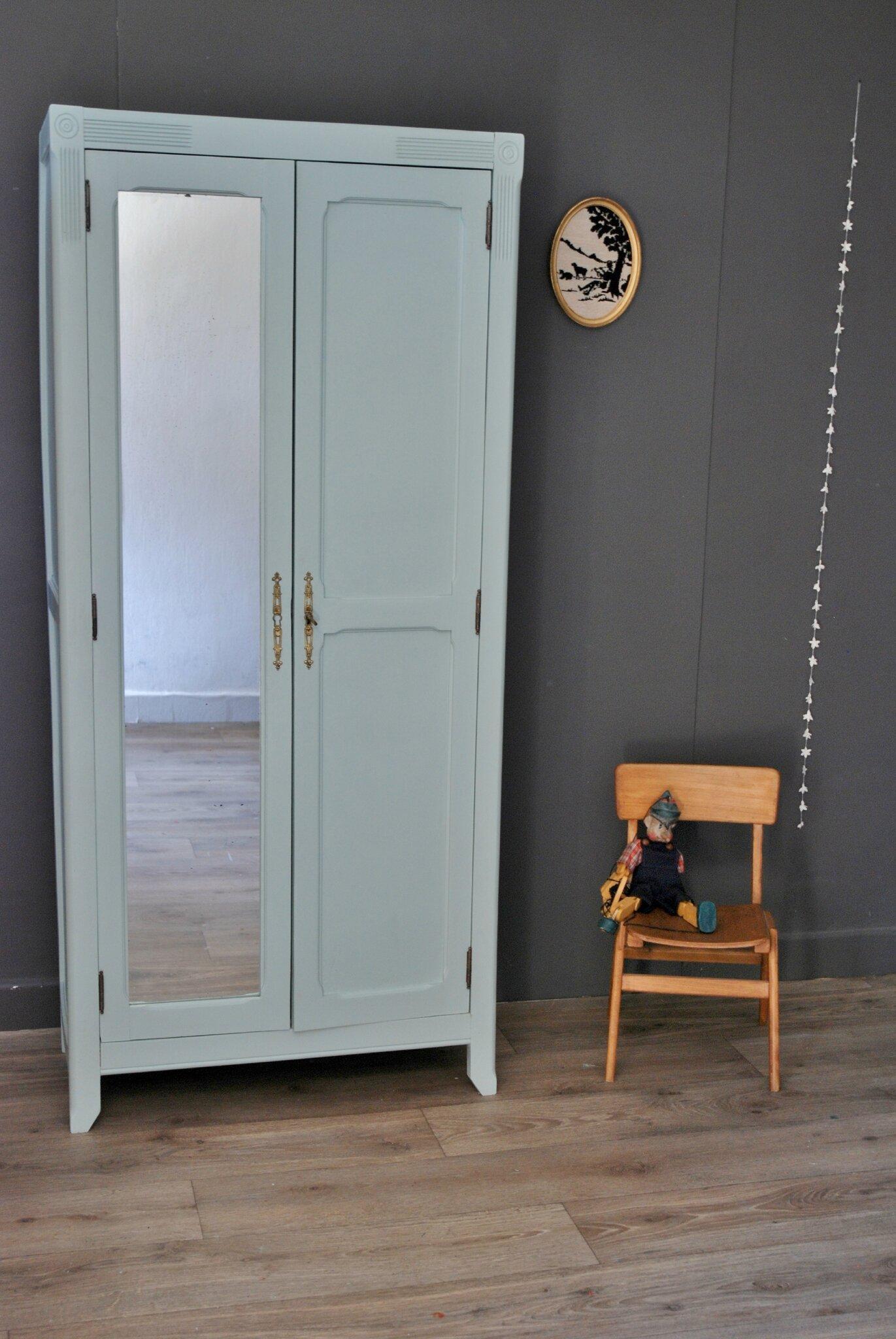 Petite Armoire Parisienne Avec Miroir Vendue Atelier