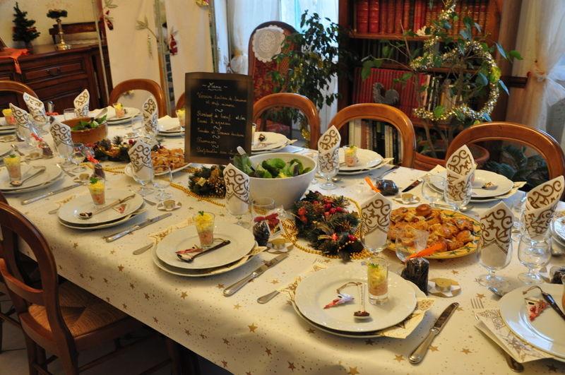 decoration de table pour un repas