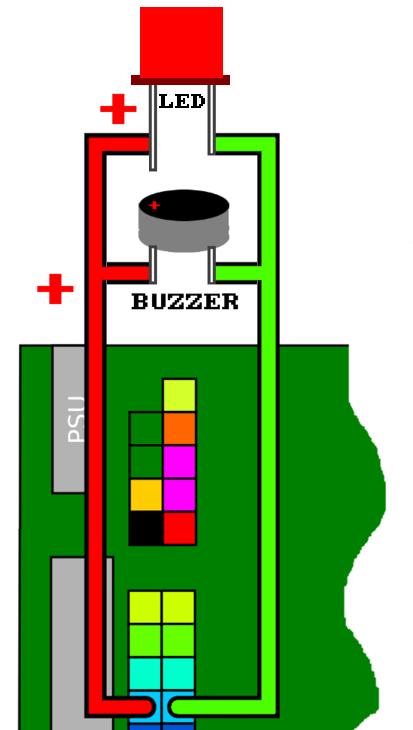 001 BUZZER LED