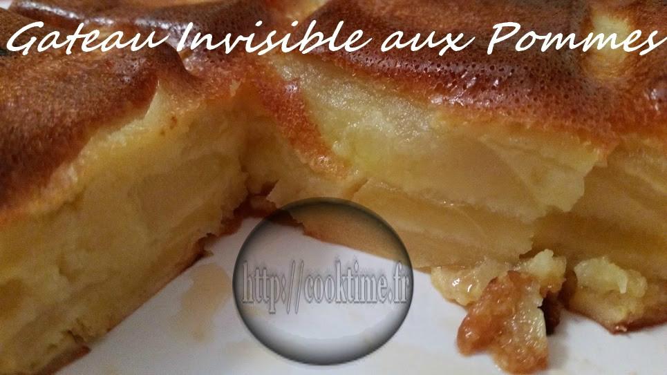 gateau invisible aux pommes au
