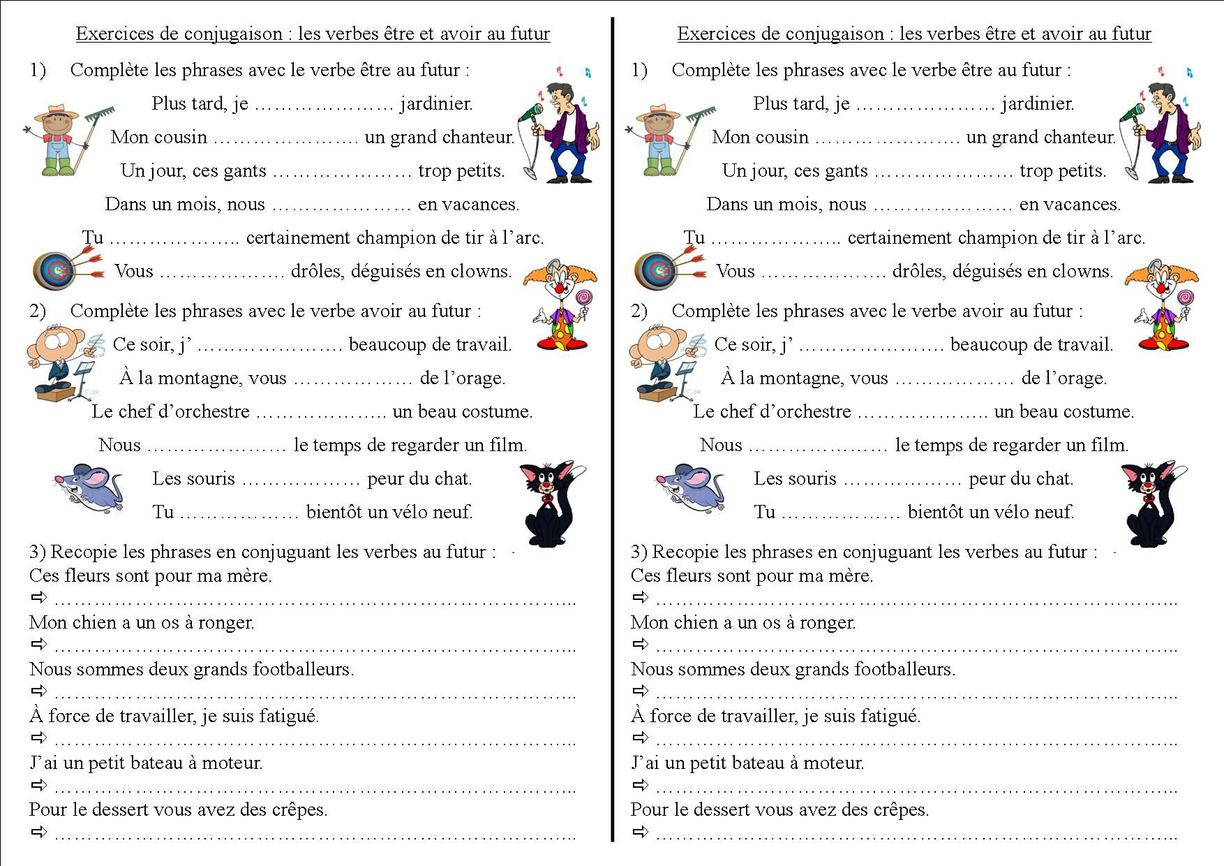 Le Verbe Etre Worksheets Printable Worksheets And Activities For Teachers Parents Tutors And Homeschool Families