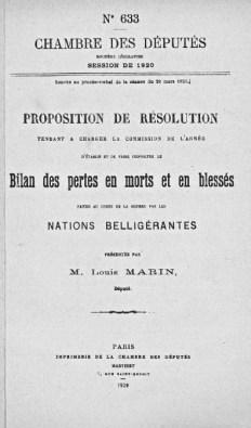 résolution Louis Marin pertes