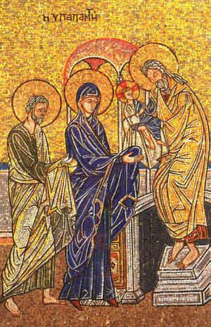 Risultati immagini per procession aux chandelles en l'honneur de la présentation de Jésus au temple