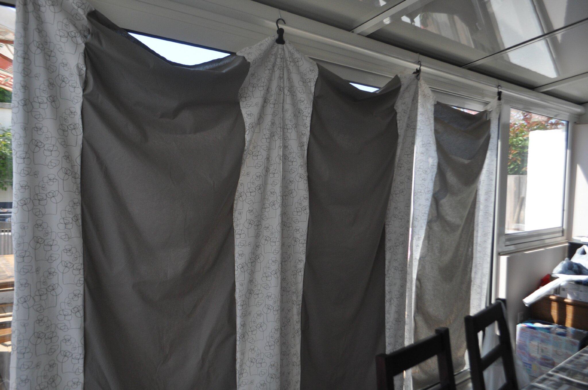 nouveau projet rideaux de la veranda