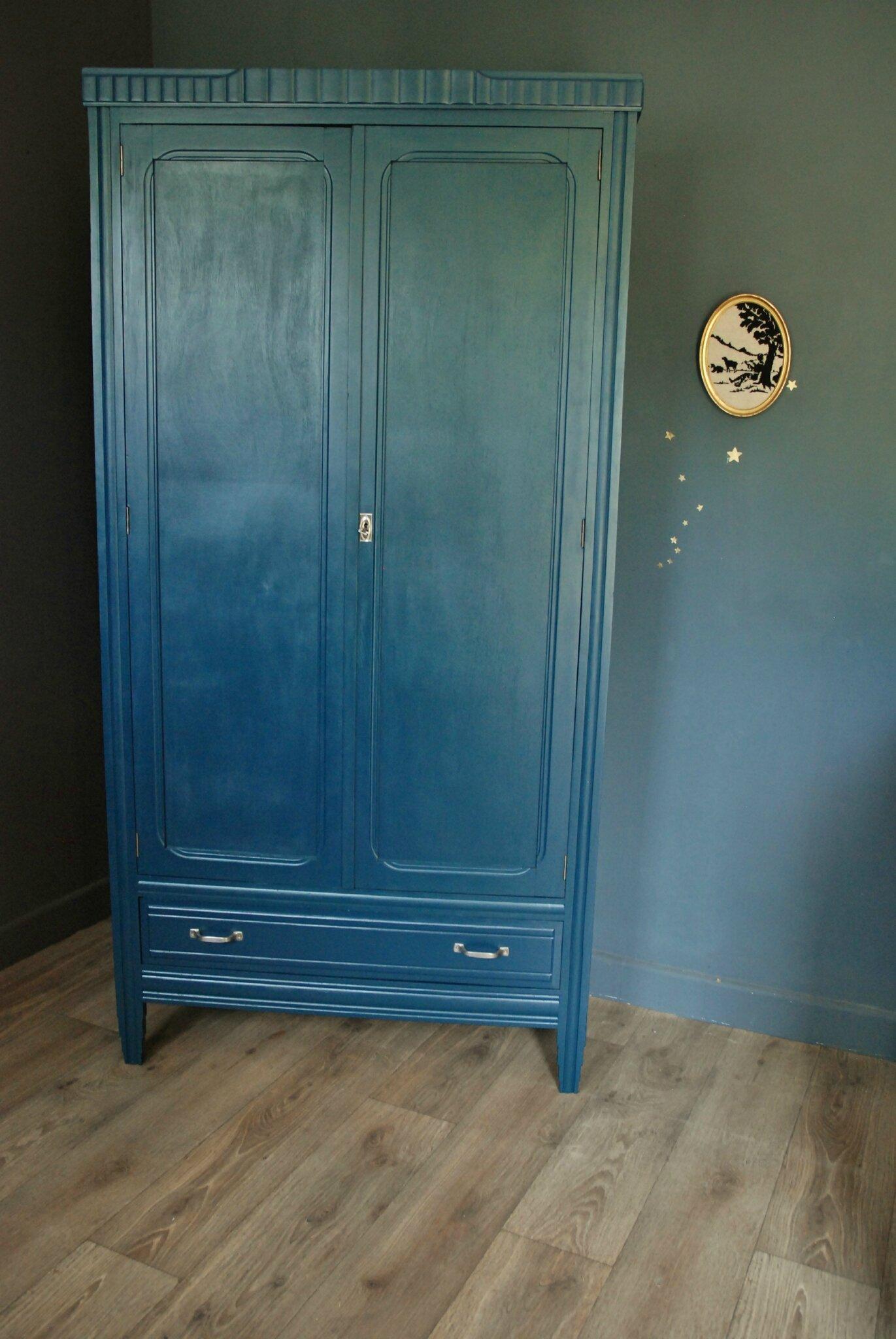 Armoire Ancienne Bleu Ptrole Atelier Vintage