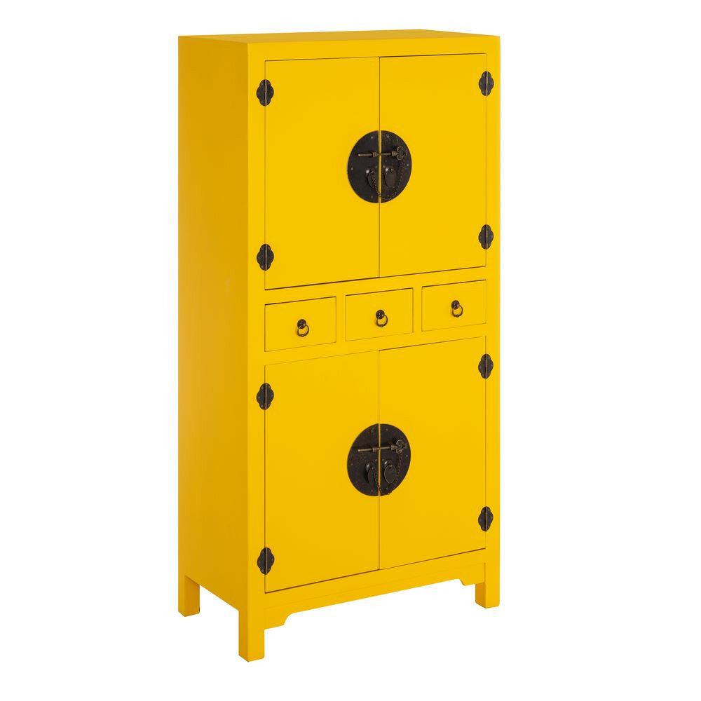 meuble jaune chinois mobilier asiatique