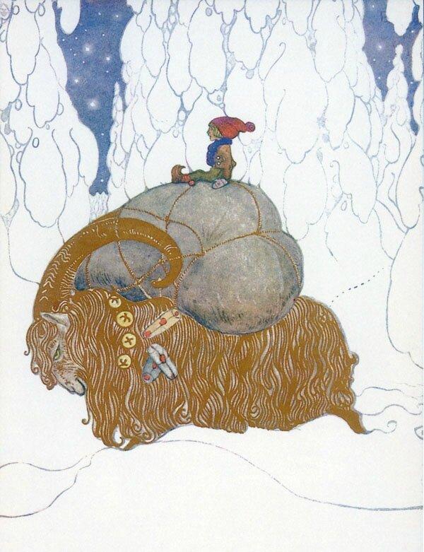Yule goat by John Bauer