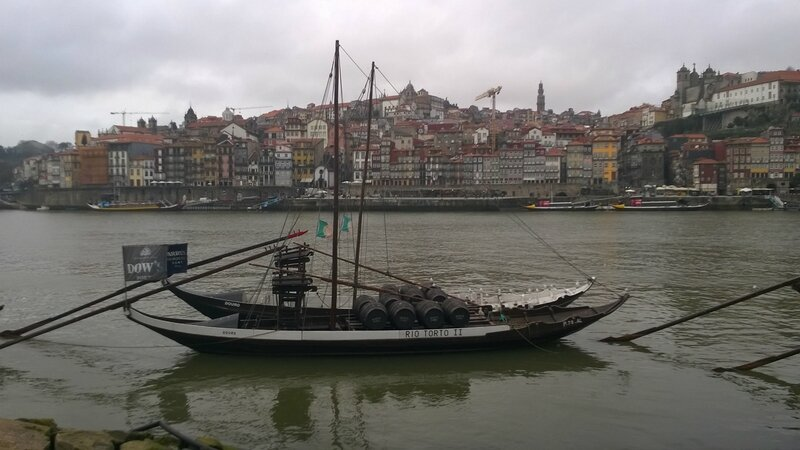 Vue de Porto, depuis les quais de Vila Nova de Gaia
